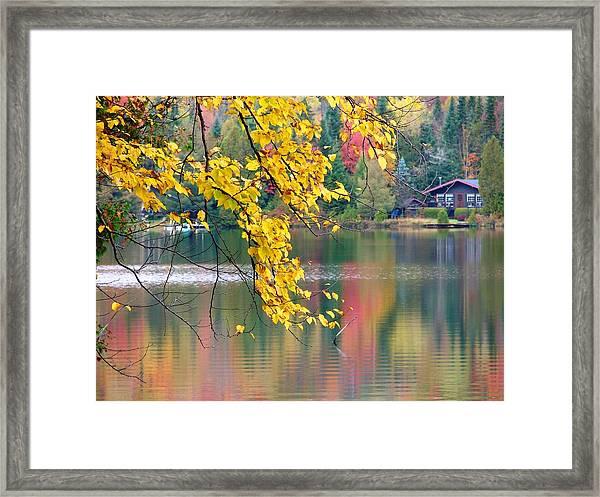 Autumn Reflection Framed Print
