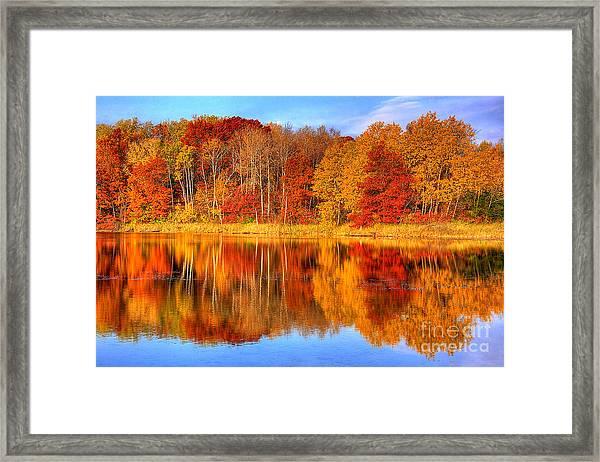 Autumn Reflections Minnesota Autumn Framed Print