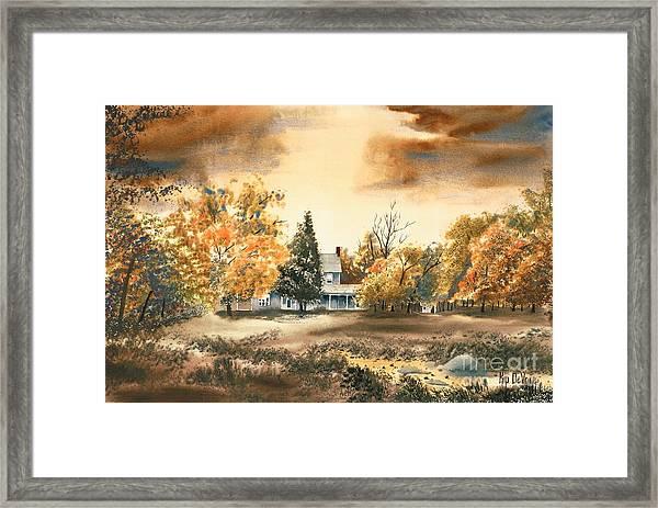 Autumn Sky No W103 Framed Print