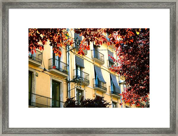 Framed Print featuring the photograph Autumn Spain by HweeYen Ong
