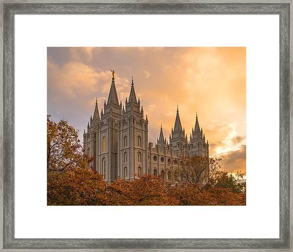 Framed Print featuring the photograph Autumn Splendor by Dustin  LeFevre