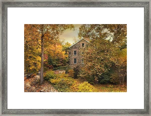 Autumn Stone Mill Framed Print