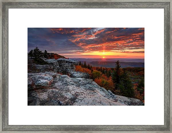Autumn Sunrise At Dolly Sods Framed Print