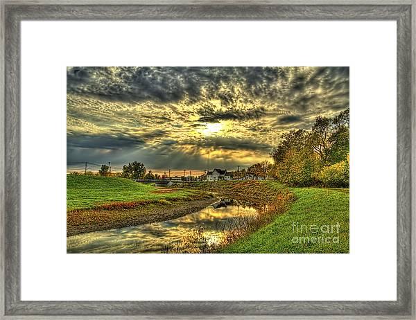 Autumn Sunset Reflection Framed Print