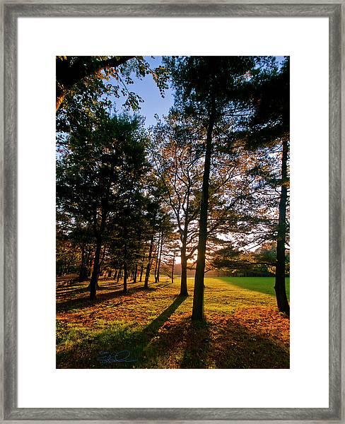 Autumn Sunset Framed Print