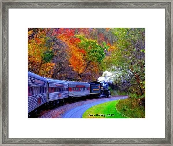 Autumn Train Framed Print