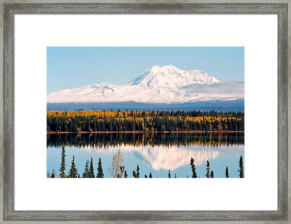 Autumn View Of Mt. Drum - Alaska Framed Print
