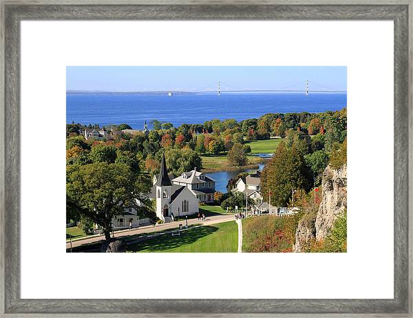 Autumn View On Mackinac Island Framed Print
