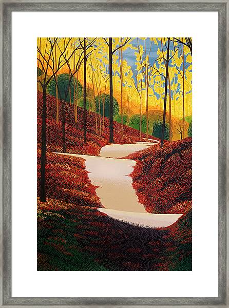 Autumn Walk Framed Print by Michael Wicksted