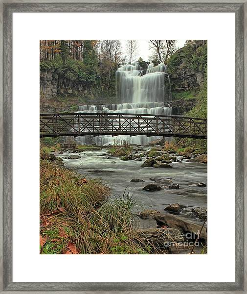Autumn Waterfalls Framed Print