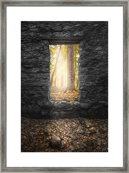 Autumn Within Long Pond Ironworks - Historical Ruins Framed Print