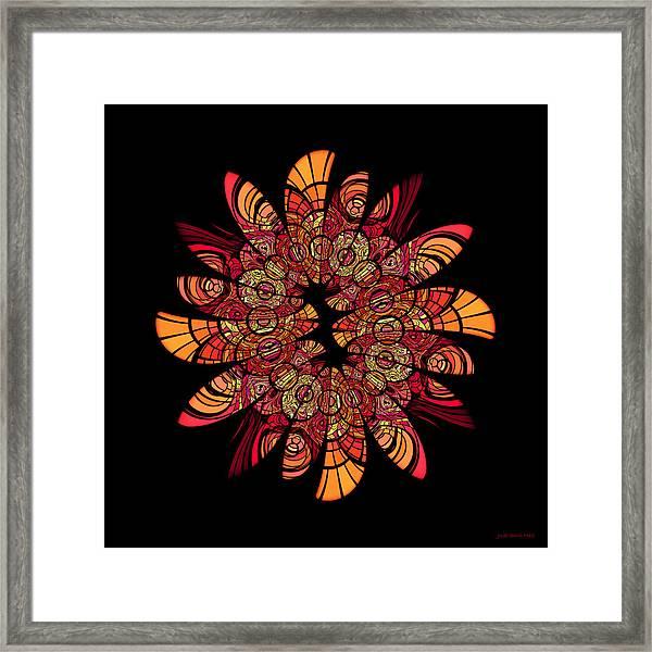 Autumn Wreath Framed Print