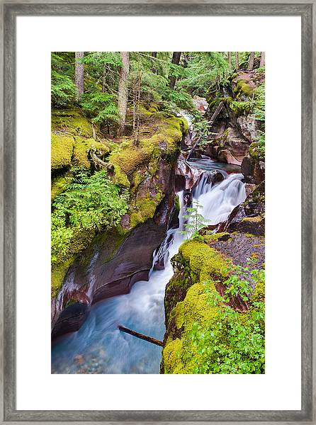 Avalanche Gorge 3 Of 4 Framed Print