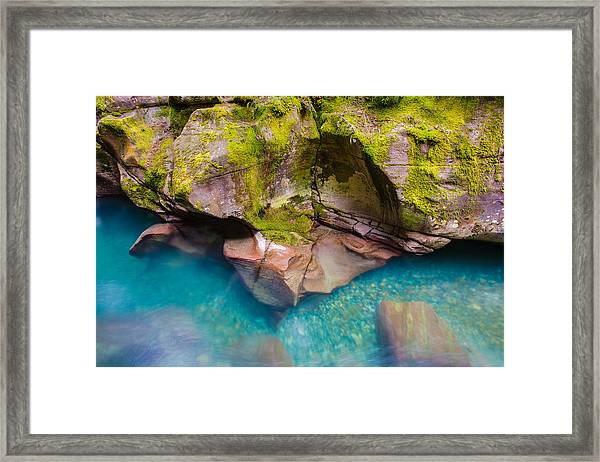 Avalanche Gorge 2 Of 4 Framed Print