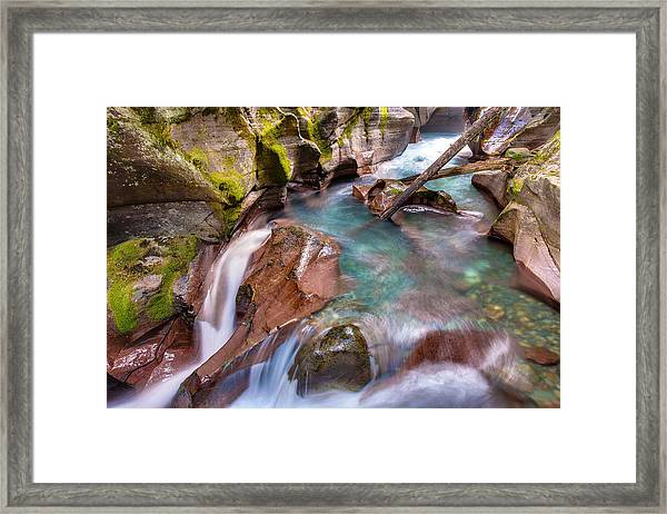 Avalanche Gorge 4 Of 4 Framed Print