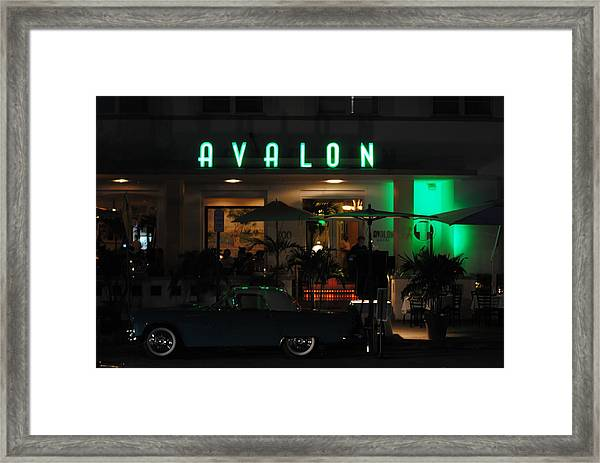 Avalon Hotel Framed Print