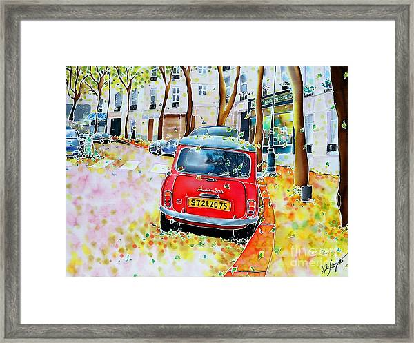 Avenue Junot In Autumn Framed Print