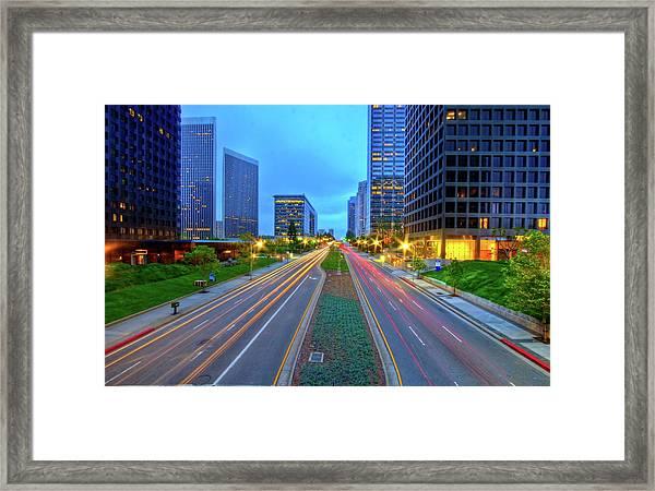Avenue Of Stars - Century City Framed Print
