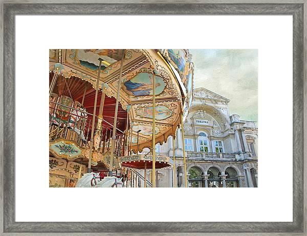 Avignon Carousel Framed Print