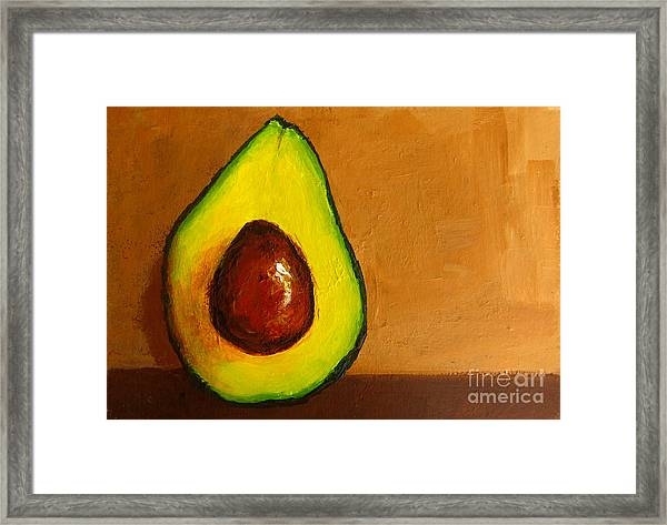 Avocado Palta Vi Framed Print