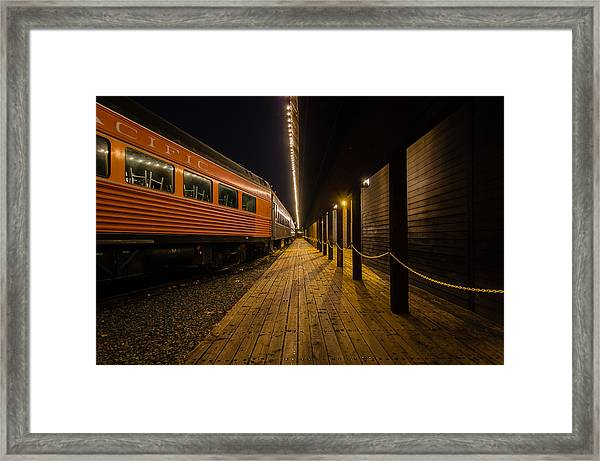 Awaiting Passengers Framed Print