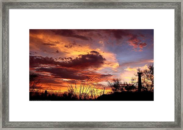 Az Monsoon Sunset Framed Print