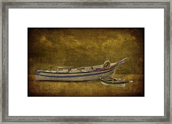 Azorean Fishing Boats Framed Print