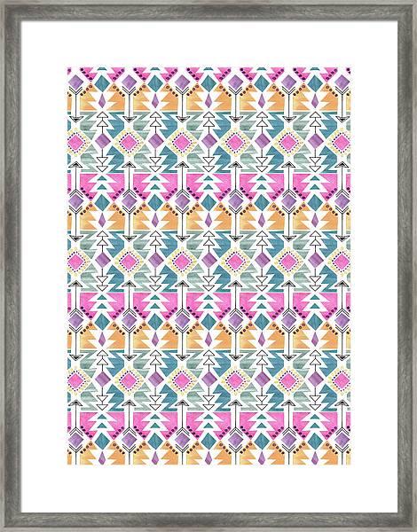 Aztec Inspired Arrow And Geometric Pattern One.jpg Framed Print