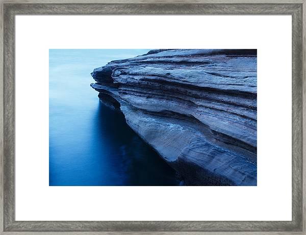 Azure Stubbornness Framed Print