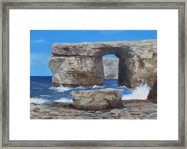 Azure Window Gozo Malta  Framed Print
