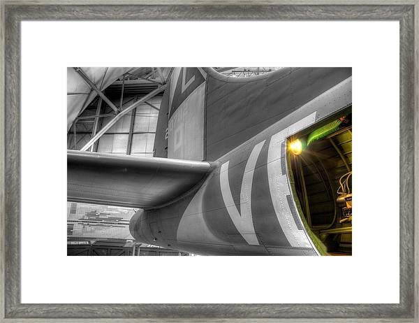 B-17 Bomber Tail Framed Print