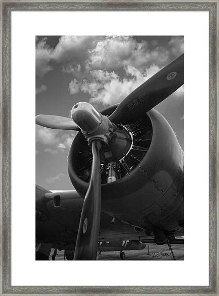 B-17 Engine Framed Print