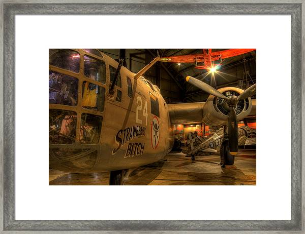 B-24 Strawberry Bitch Framed Print