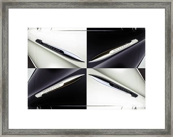B And W Chevy Framed Print