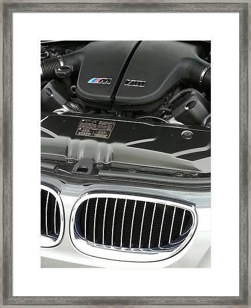 B M W M5 V10 Motor Framed Print