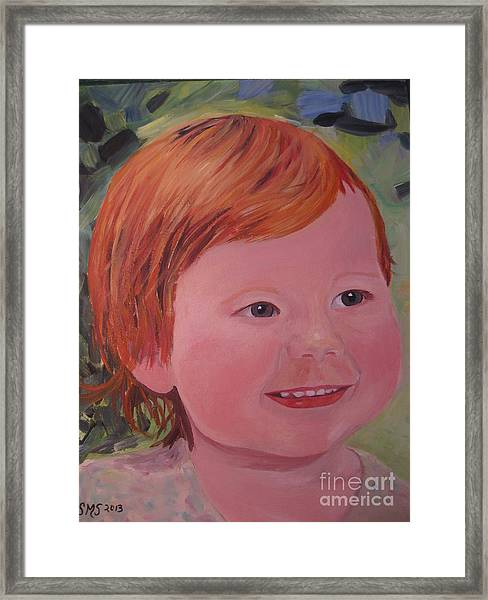 Baby Cheeks Framed Print