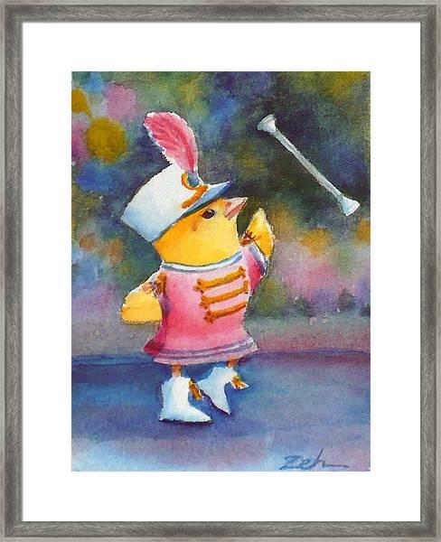 Baby Chick Drum Majorette Framed Print