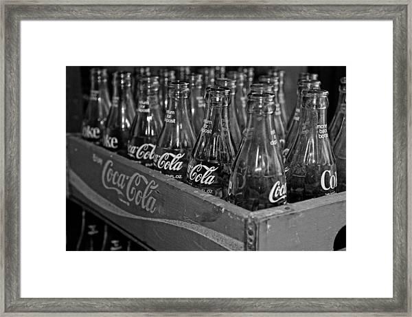 Baby Cokes Framed Print