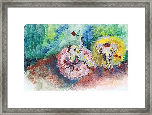 Baby Elephant Ballerinas Framed Print