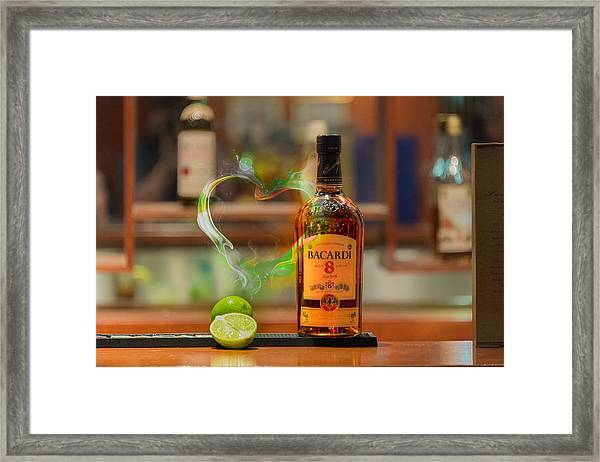 Bacardi And Lime In Love Framed Print