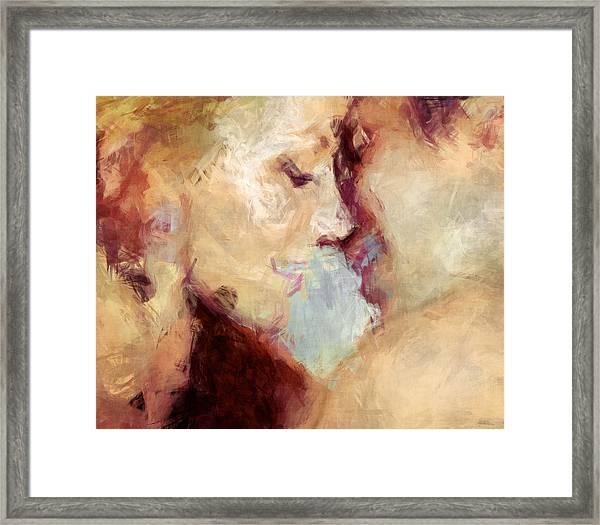 Baci Baci - Abstract Realism Framed Print