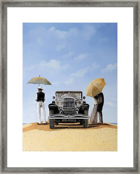 Baci Nel Deserto Framed Print