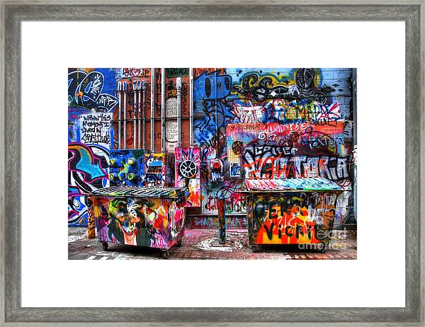Back Alley Canvas Framed Print