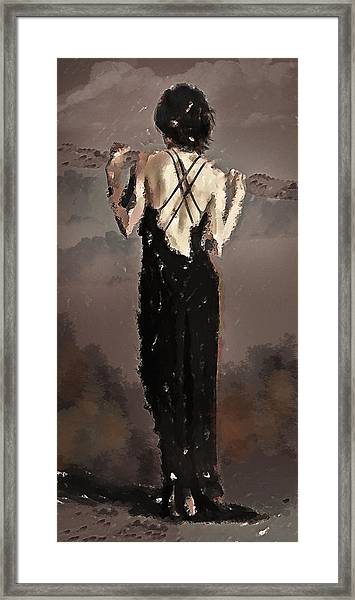 Back In Black  Framed Print