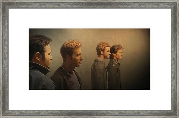 Framed Print featuring the photograph Back Stage With Nsync by David Dehner
