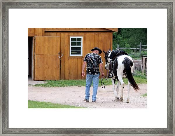 Back To The Barn Framed Print