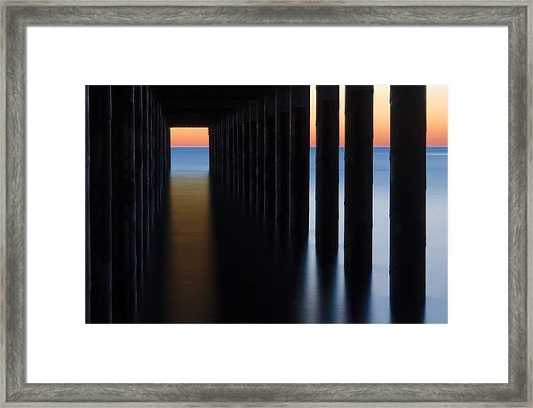 Back Under The Pier Framed Print