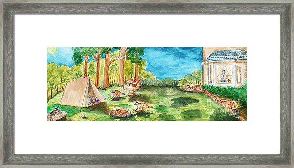 Back Yard Camp Framed Print