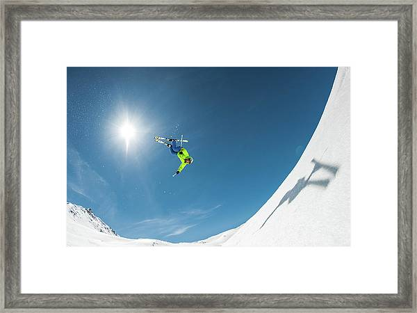 Backcountry Backflip Framed Print by Eric Verbiest