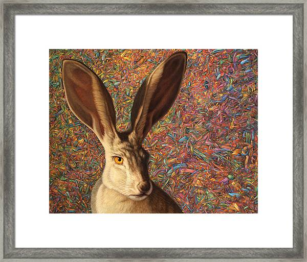 Background Noise Framed Print